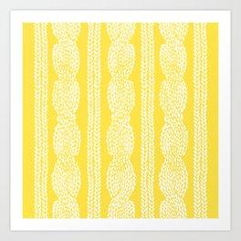 Cable Row Yellow Art Print