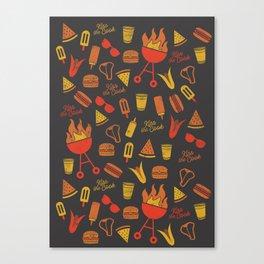 Kiss the Cook - Dark Palette Canvas Print