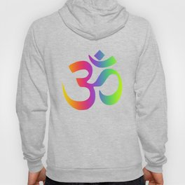 Rainbow Om Symbol Multi Color Hoody