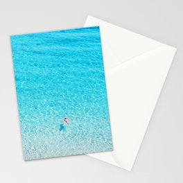 Floating in the Mediterranean Sea Stationery Cards