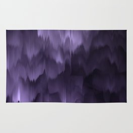 Purple and black. Abstract. Rug