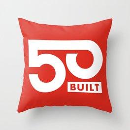 50 BUILT LLC Throw Pillow