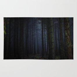 The Dark & Eerie Woods (Color) Rug