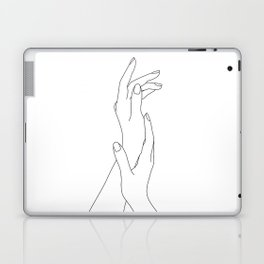 Hands line drawing illustration - Dia Laptop & iPad Skin