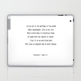 Shakespeare's Sonnet 116 Quote Laptop & iPad Skin