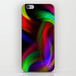 Rainbow Color Swirl iPhone Skin