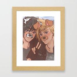 Snapchat on the road Framed Art Print