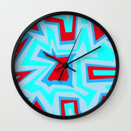 Ice Banded Red - Coral Reef Series Wall Clock