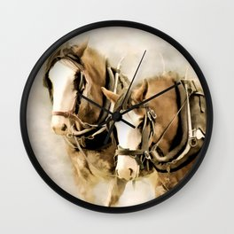 Clydies At Work Wall Clock