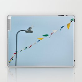 Welsh seagull and bunting Laptop & iPad Skin
