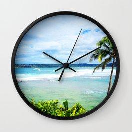 Hanalei Bay Day Wall Clock