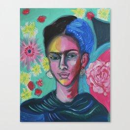 Floral Frida Canvas Print