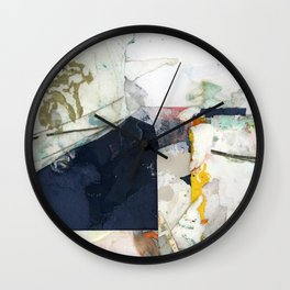 White Landscape from an Aerial View Wall Clock