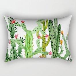 Green Simple Cacti Rectangular Pillow