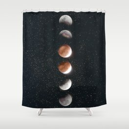 Phases of the Moon II Shower Curtain