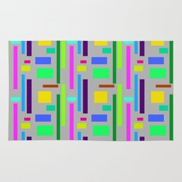 Unisex pattern with vibrant Colours in squares and rectangles. Rug