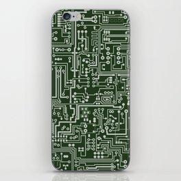 Circuit Board // Green & Silver iPhone Skin