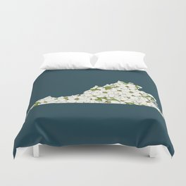 Virginia in Flowers Duvet Cover