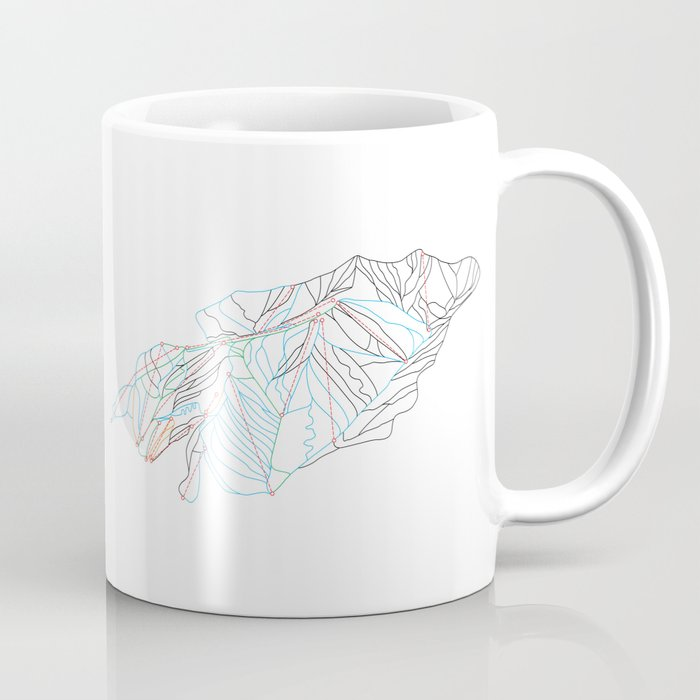Park City, UT - Minimalist Trail Art Coffee Mug