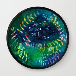 Colour Outside The Lines Wall Clock