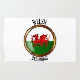 Welsh Proud Flag Button Rug