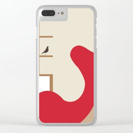 Inside Mid-century modern 121 Clear iPhone Case