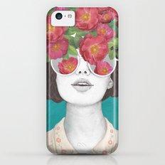 The optimist // rose tinted glasses iPhone 5c Slim Case