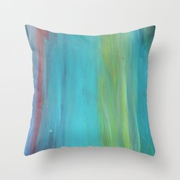 Blue Lagoon Love Throw Pillow