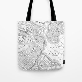 Vintage Map of Boston (1878) Tote Bag