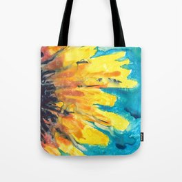 Free Flowing Sunflower Tote Bag