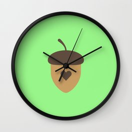 Acorn with heart T-Shirt for Women, Men and Kids Wall Clock
