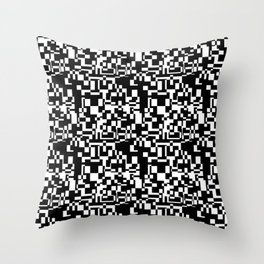 geometric decomposition in black Throw Pillow