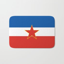 yugoslavia country flag Bath Mat