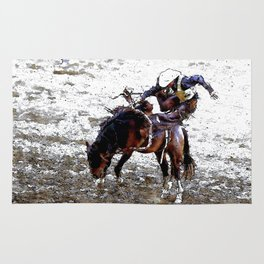 The Dismount   -   Rodeo Cowboy Rug
