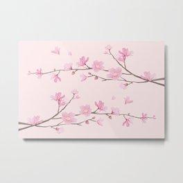 Cherry Blossom - Pink Metal Print