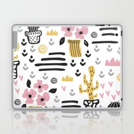 Cute flowers and cactus Laptop & iPad Skin