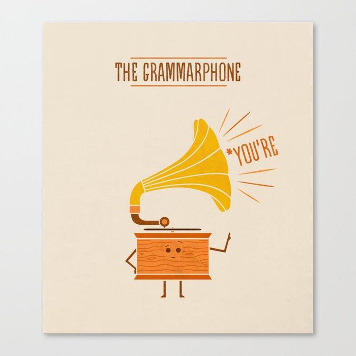 Grammarphone Canvas Print