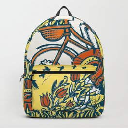 Bike Blossoms Backpack