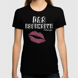 "KathleenLight ""Das Espensive"" V4 White w/ Luminere color pop Lips T-shirt"