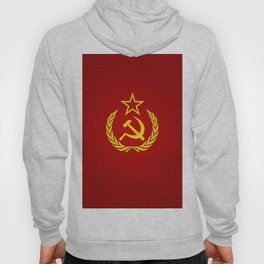 Hammer and Sickle Textured Flag Hoody
