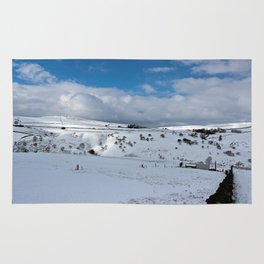Snow in the peak district Rug