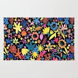 Autumm´s flowers and black Rug
