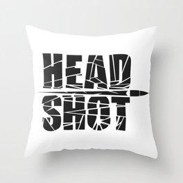 Head Shot Throw Pillow