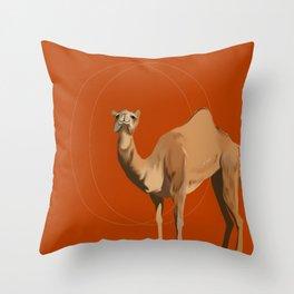 Camel Moon Throw Pillow