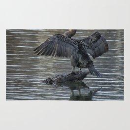 Double-Crested Cormorant Portrait Rug