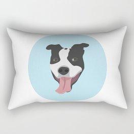 Smiley Pitbull Rectangular Pillow