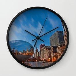 Chicago's Bean at Sunrise Wall Clock