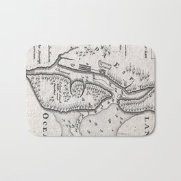 Vintage Map of St. Augustine Florida (1737) Bath Mat
