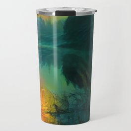 Fog on the silent river in the early morning Travel Mug