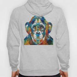 Colorful Chimp Art - Monkey Business - By Sharon Cummings Hoody